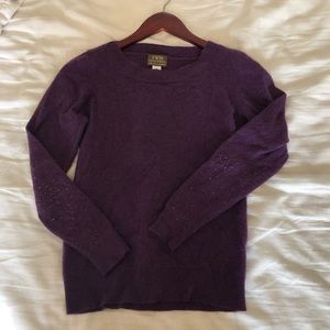 purple 100% cashmere sweater
